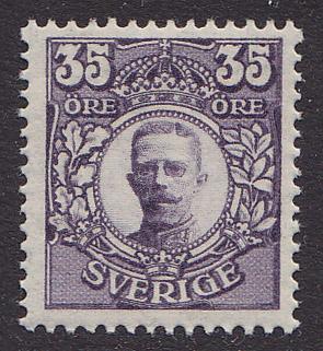 F 89Bz, 35 öre Gustaf V i Medaljong **