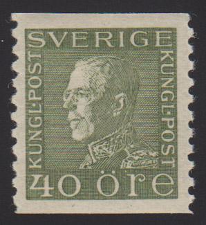 F 190a, Gustaf V profil vänster 40 öre typ II **