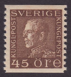 F 191a, Gustaf V profil vänster 45 öre brun **