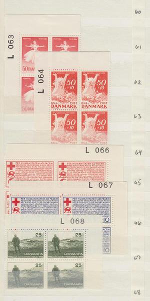 Samling Danmark fyrblock