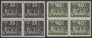 F 202-03, Världspostkongressen 1924 fyrblock **