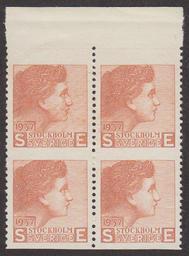 Sven Ewert provtryck 1937 fyrblock **