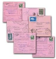 Tre Kronor 1.40 kr med gul fluorescens på internationella postanvisningar