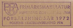Postförseglad kilovara, årgång 1972