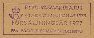 Postförseglad kilovara, årgång 1977