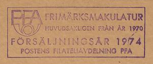 Postförseglad kilovara, årgång 1974