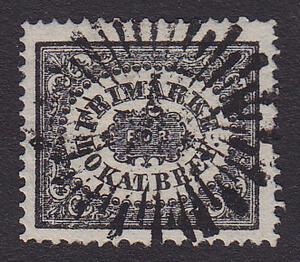 F 6a2, (1 Sk Bco) Svarta Lokalfrimärket