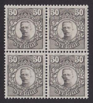 F 91bz, Gustaf V i Medaljong fyrblock **