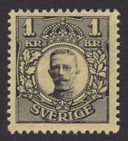 F 96Bz, Gustav V i Medaljong 1 kr **