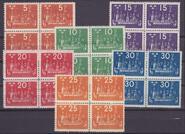 F 196-201, Världspostkongressen 1924 fyrblock **