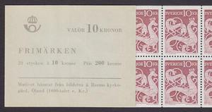 H143A, Bildsten med färgfyllt posthorn
