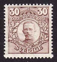 F 88Bz, 30 öre Gustaf V i Medaljong **