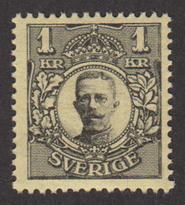 F 96, Gustaf V i Medaljong 1 kr **