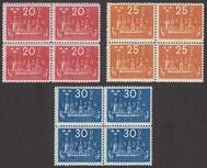 F 199-201, Världspostkongressen 1924 fyrblock **