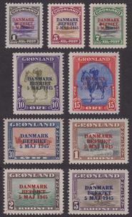 "GL F 19-27, Grönland ""DANMARK BEFRIET"" **"