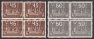 F 204-05, Världspostkongressen 1924 fyrblock **