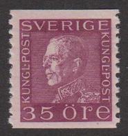 F 187a, 35 öre Gustaf V Profil Vänster **