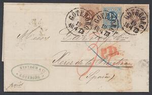 Ringtypsbrev till Spanien 1873