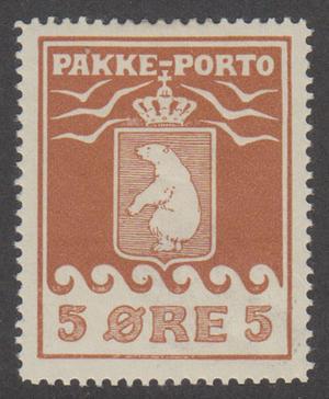 GL F P6I, 5 øre Pakke-Porto *