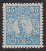 F 92, 55 öre Gustaf V i Medaljong **