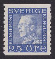 F 183b, 25 öre Gustaf V Profil Vänster **