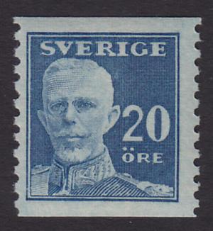 F 151A, 20 öre Gustaf V - en face **